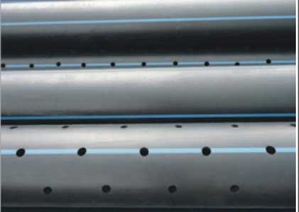 Perforated pipe sections